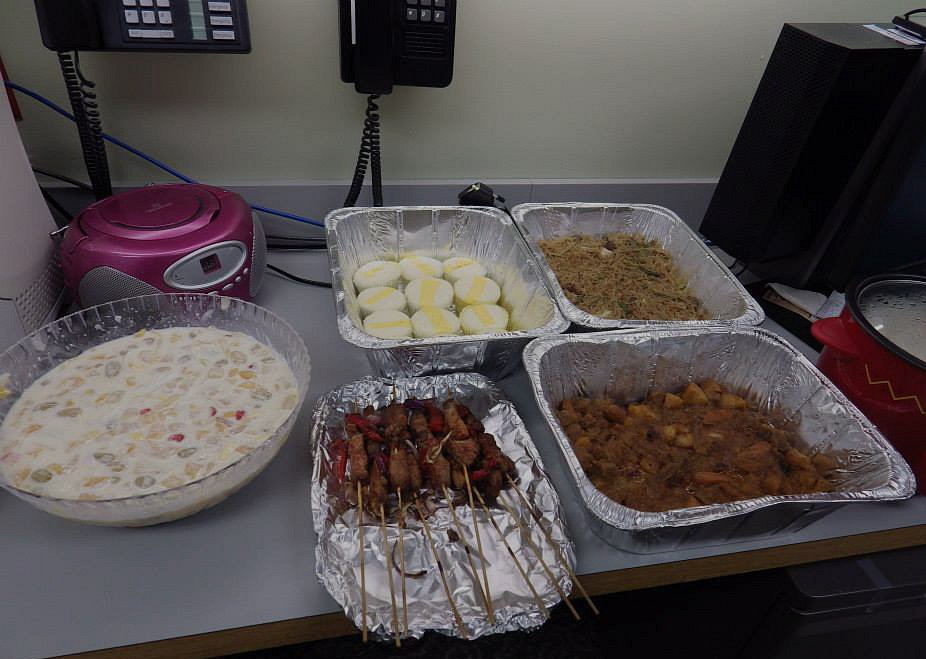 Holiday food at work