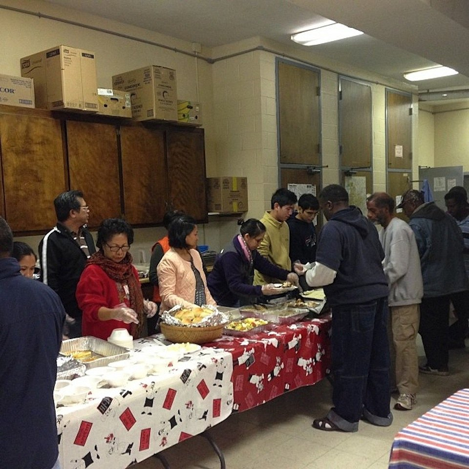 Thanksgiving Outreach at Shelter for Homeless Men
