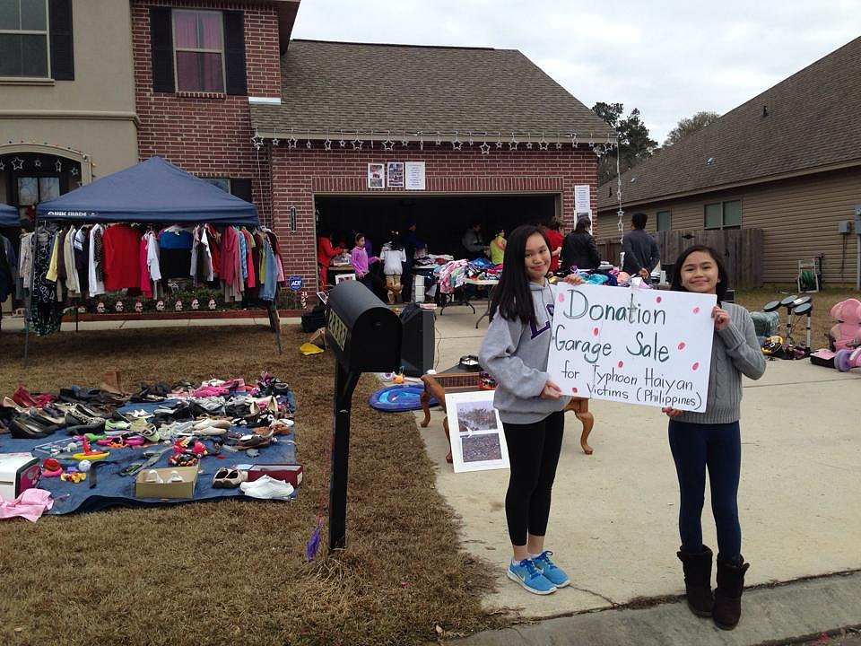Garage Sale for Typhoon Haiyan Survivors in the Philippines