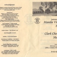 Dedication of Manila Village Plaza and Clark Cheniere Markers