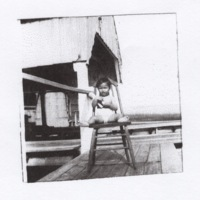 Child on Manila Bay Wharf (1941)